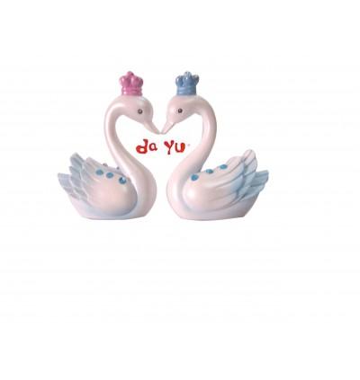 Swan Couple Miniature