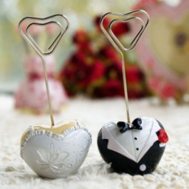 Hearts Tuxedo & Gown Place Card Holder - as low as RM2.80each