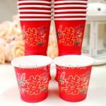 Tea Ceremony Paper Cup (50pcs) | Disposable Cup | Wedding Papercup
