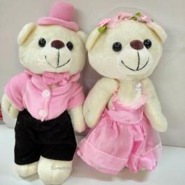 Wedding Bears In Pink