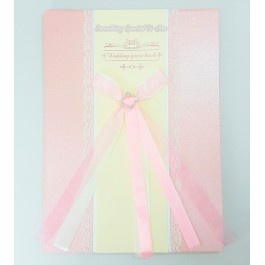 (PINK) Lace Wedding Guest Book