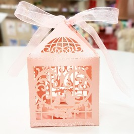 Love Bird Cage Favor Box (Pink) - as low as RM0.70/pc