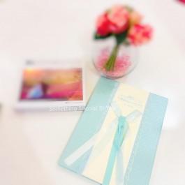(TIFFANY BLUE) LACE WEDDING GUESTBOOK