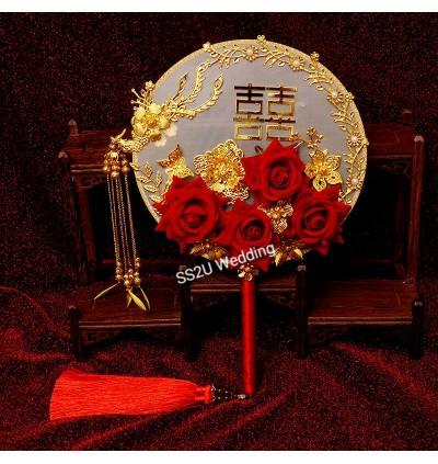 Vintage Wedding Palace Fan