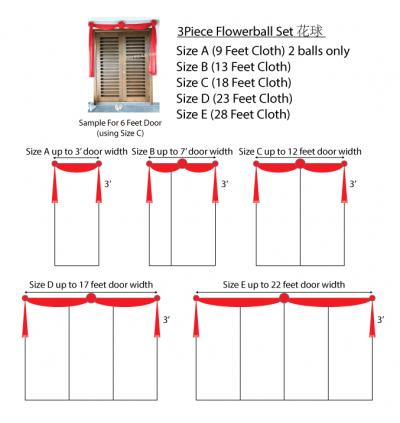 Door Cloth Package (3pcs Flowerball)
